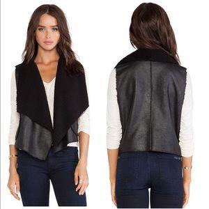 C&c California Revolve black Sherpa faux vest
